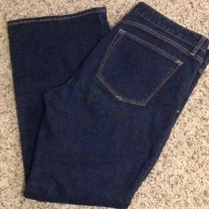 Gap curvy wide leg ankle jeans